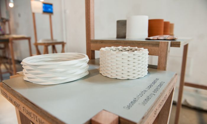 3D Printed ceramics by Olivier van Herpt. Photo: William van der Voort